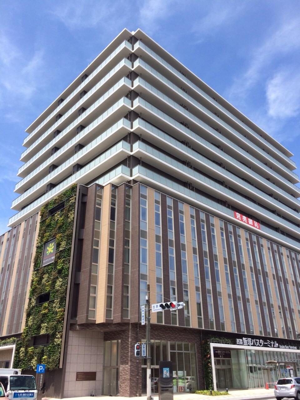 飯塚バスターミナル上のハイグレードマンションマンション