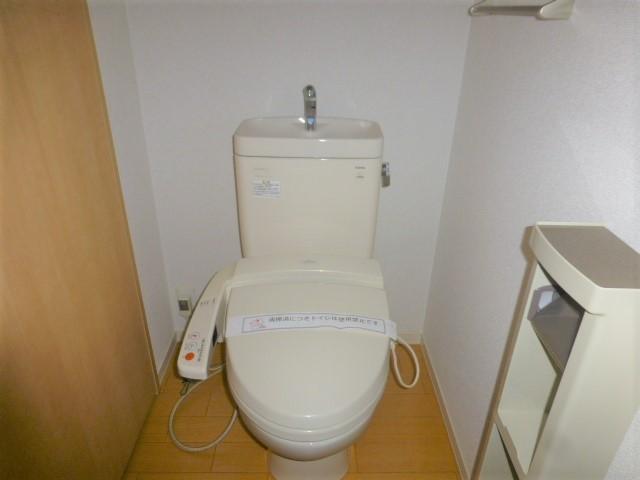 お手洗い温水洗浄前座です