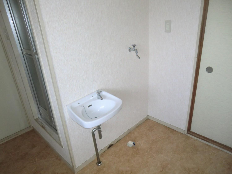 【洗面・洗濯機置場】洗濯機室内に置けます