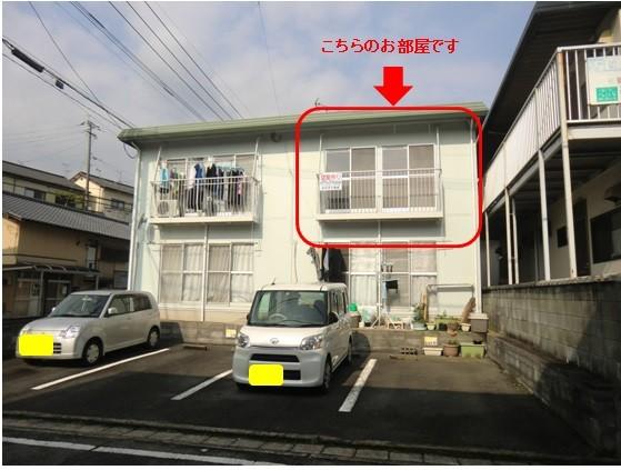 【外観】2階角部屋です