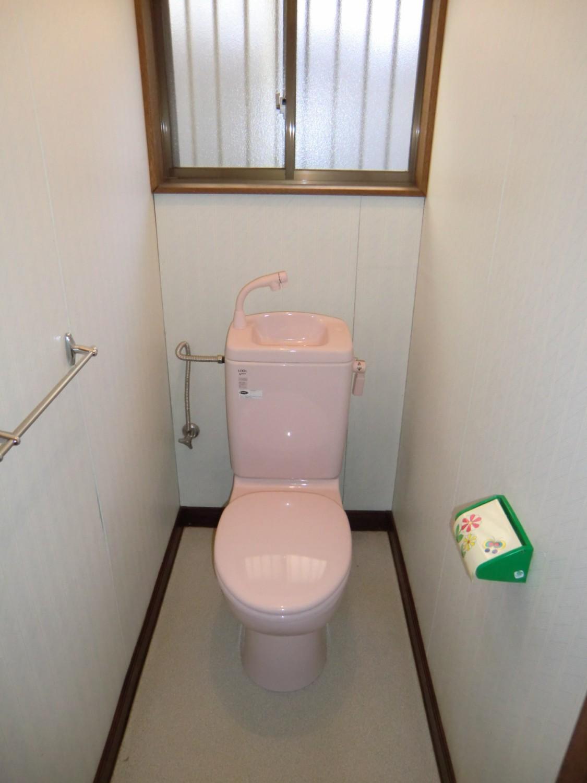 簡易水洗トイレ 入替済です