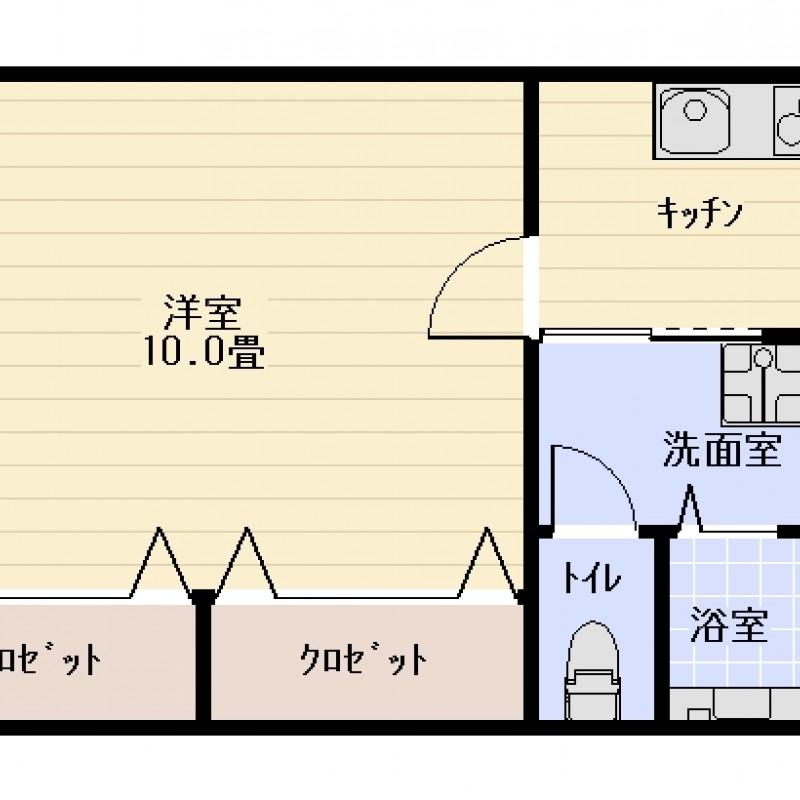 203号室間取