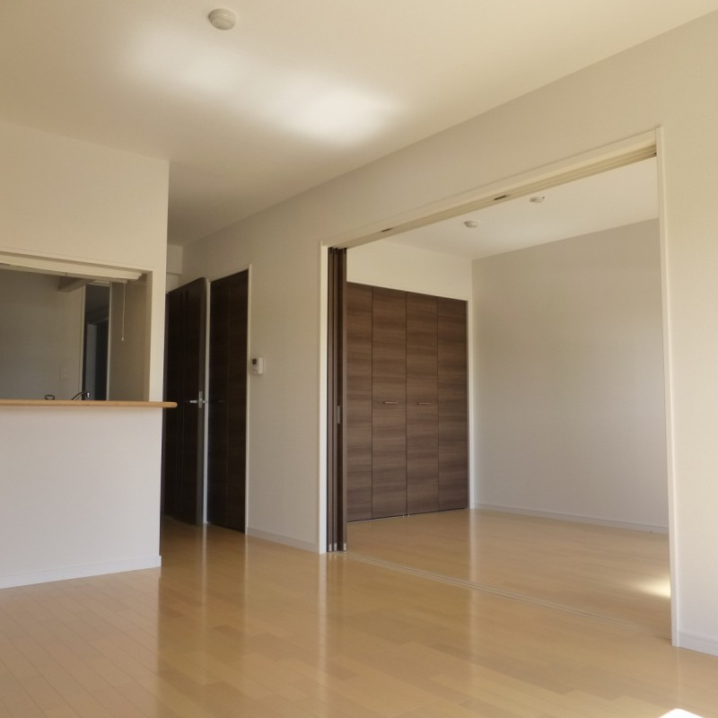 対面式キッチンなので、お部屋がスッキリして見えますね