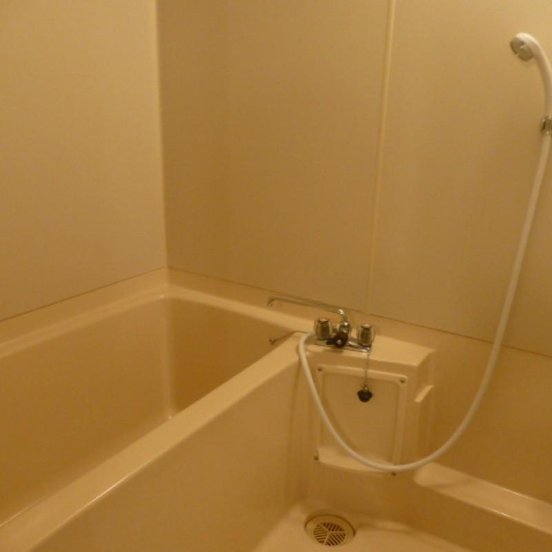 シャワー付きの浴室