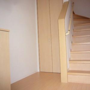 階段下に収納があるので重い物やストック置き場に便利です。