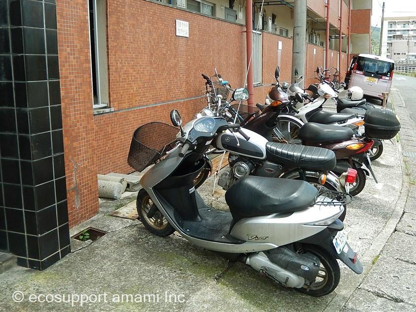 バイク置場あります