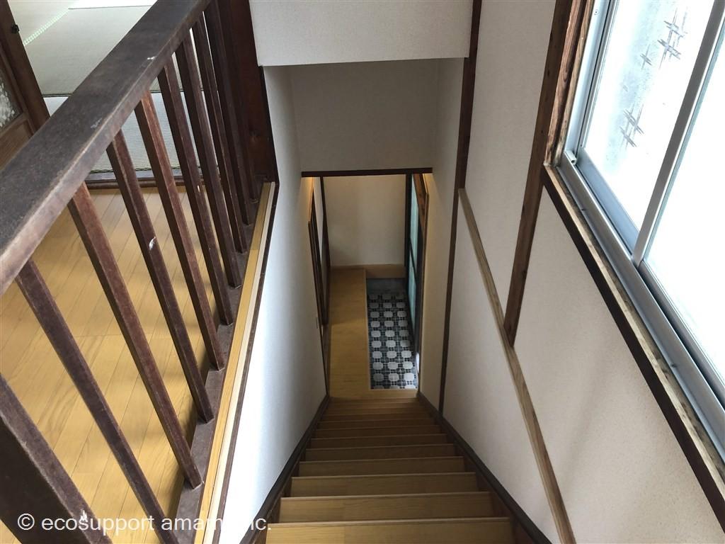 階段2階から1鍵