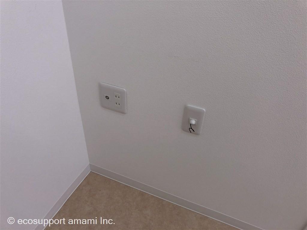 TVアンテナ線、光回線引込口