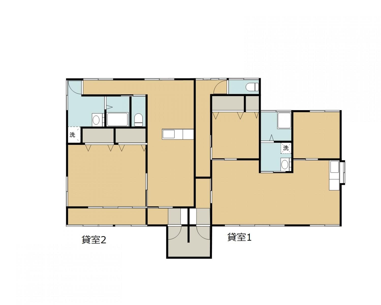 1棟貸室2戸(2LDK、1LDK)