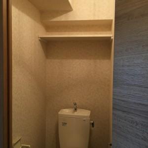 トイレ上収納棚