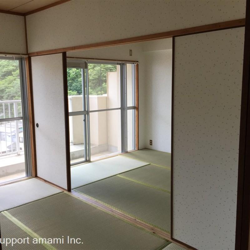 リビング→和室×2側