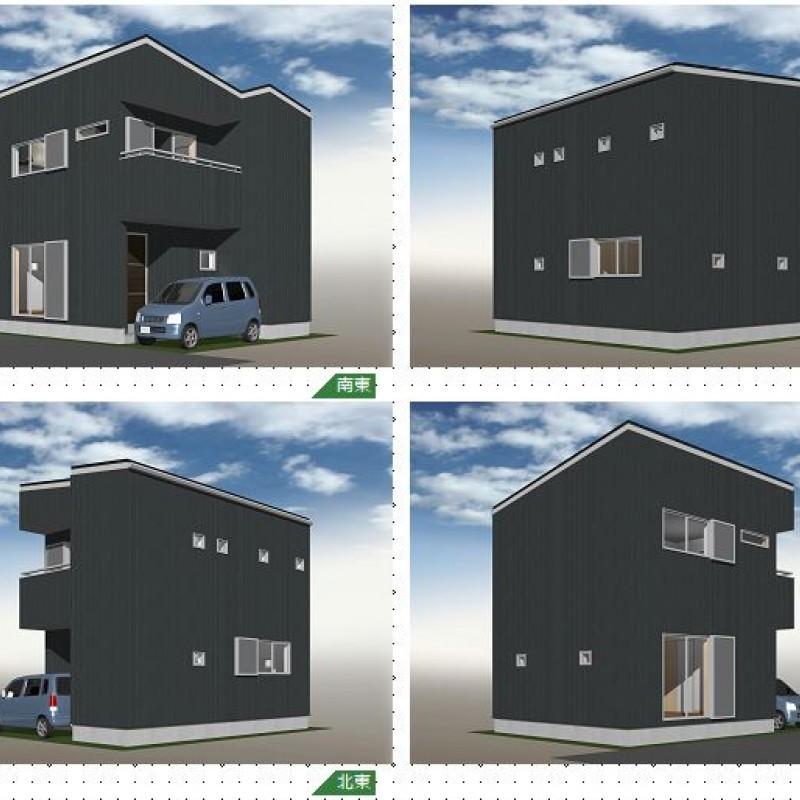 建築プラン例①パース図