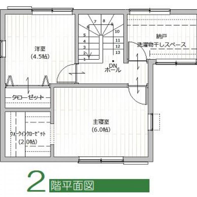 建築プラン例②2F平面図