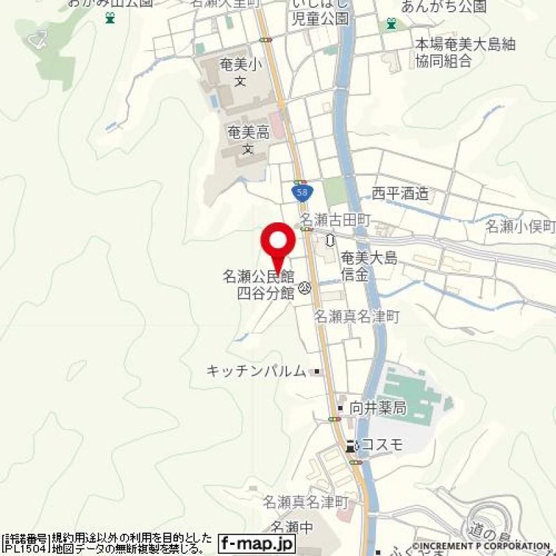 古田町貸家案内図