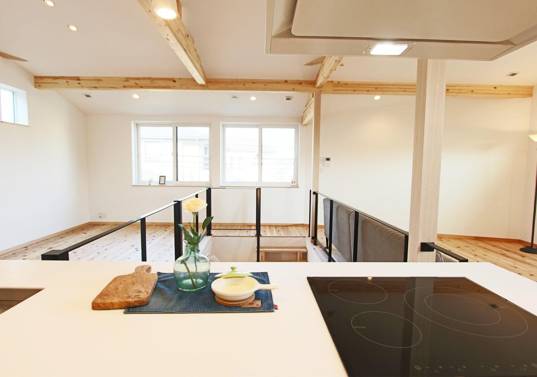 開放的な空間で毎日の料理も楽しくなります♪ 部屋が一望でき、お子様の状況も一目瞭然です♪