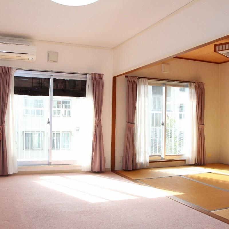 LDKと和室併せて約21帖の広々空間