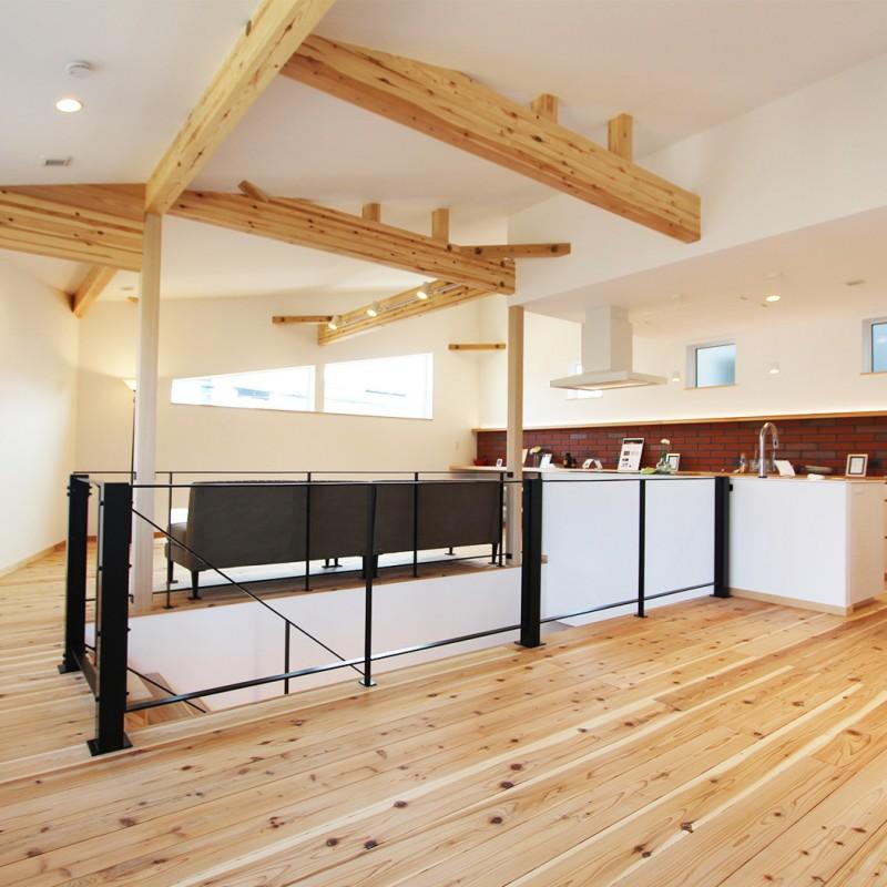 高気密高断熱の家なので、広々LDKでも冷暖房効率優れています