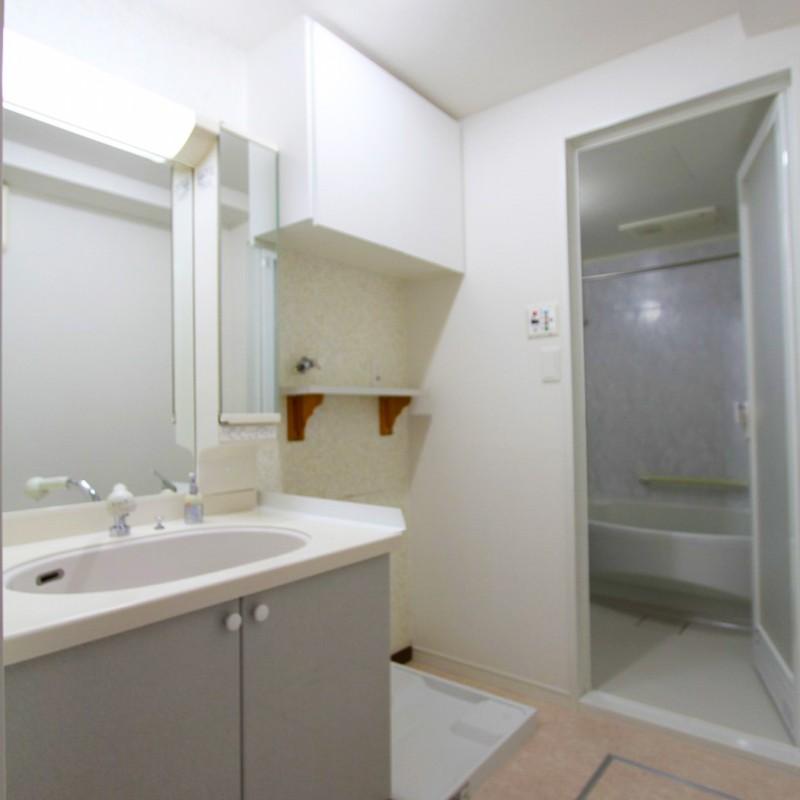 洗面室も綺麗にお使いでそのまま利用することができます♪