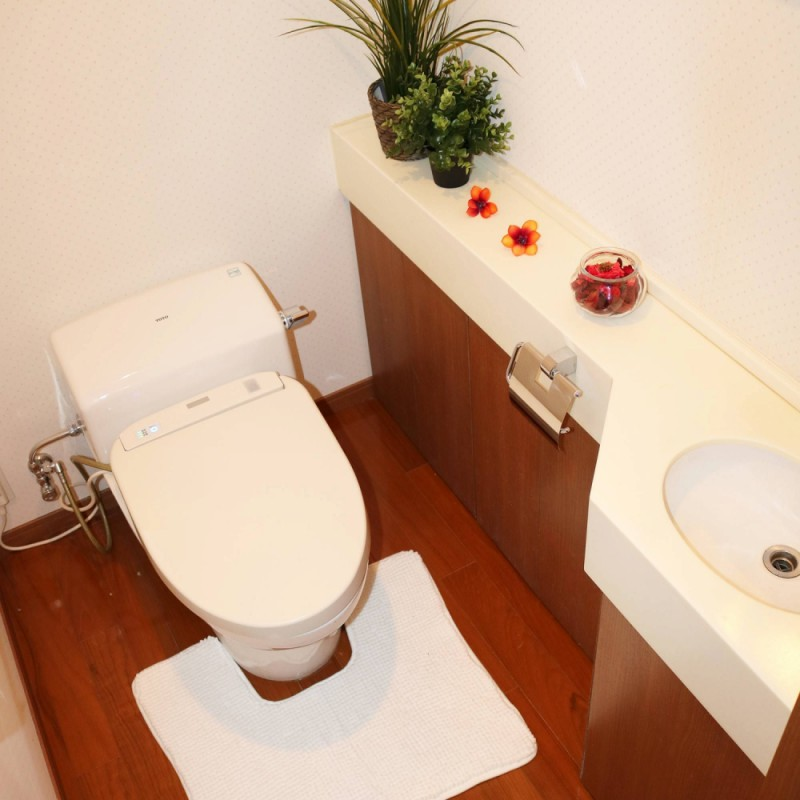 トイレもゆとりのある空間♪もちろんウォシュレットつきです☆