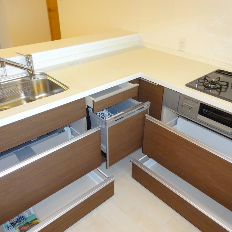 オールスライド収納+食洗器